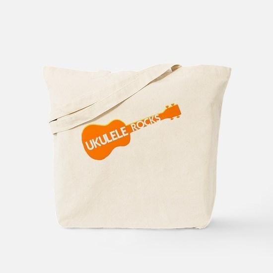 orange ukulele rocks Tote Bag