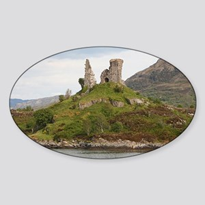 Moil Castle, Scotland, United Kingd Sticker (Oval)