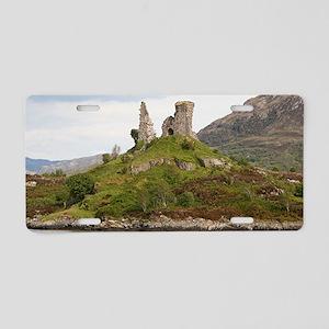 Moil Castle, Scotland, Unit Aluminum License Plate