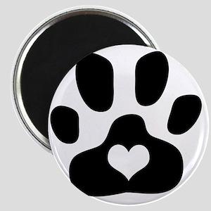 Heart Paw Print Magnet