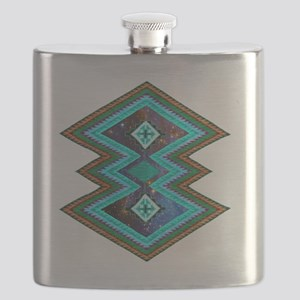 Hipster Navajo Geometric Native Indian Galax Flask
