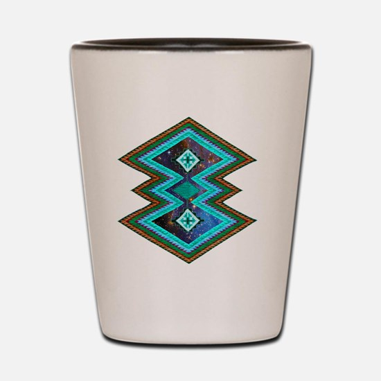 Hipster Navajo Geometric Native Indian  Shot Glass