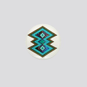 Hipster Navajo Geometric Native Indian Mini Button