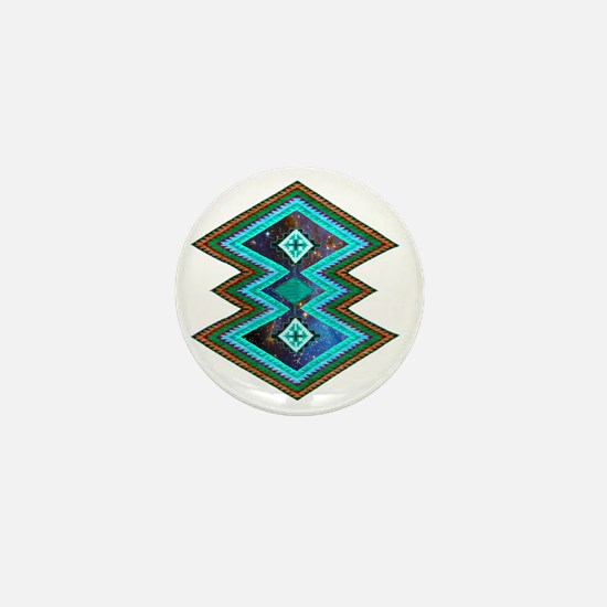 Hipster Navajo Geometric Native Indian Mini Button
