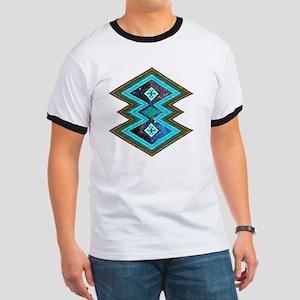 Hipster Navajo Geometric Native Indian Ga Ringer T