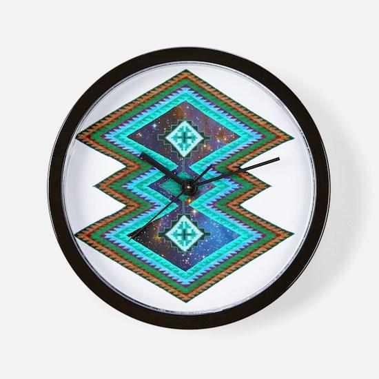 Hipster Navajo Geometric Native Indian  Wall Clock