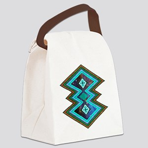 Hipster Navajo Geometric Native I Canvas Lunch Bag