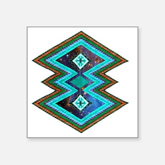 "Hipster Navajo Geometric Na Square Sticker 3"" x 3"""