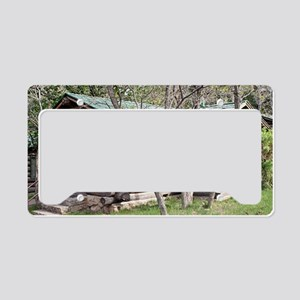 Log cabin, Grand Canyon North License Plate Holder