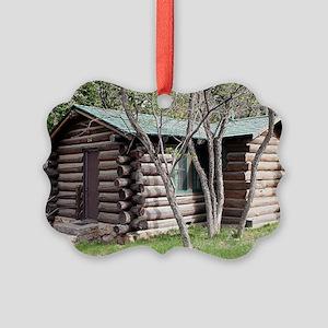 Log cabin, Grand Canyon North Rim Picture Ornament