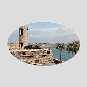 Castel San Marco Fort, St Au 20x12 Oval Wall Decal