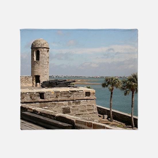 Castel San Marco Fort, St Augustine, Throw Blanket
