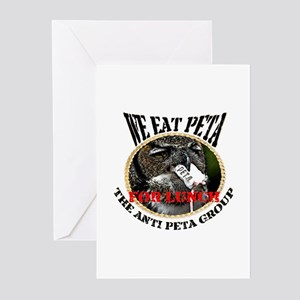 We eat Peta for lunch Greeting Cards (Pk of 10