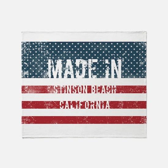 Made in Stinson Beach, California Throw Blanket