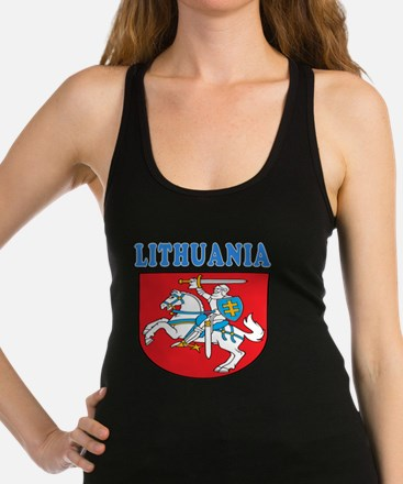 Lithuania Coat Of Arms Designs Racerback Tank Top