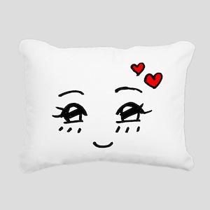 Cute Faces Rectangular Canvas Pillow