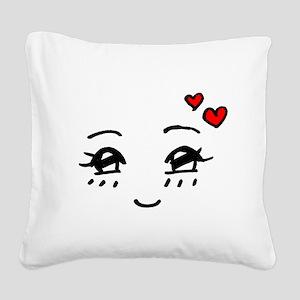 Cute Faces Square Canvas Pillow