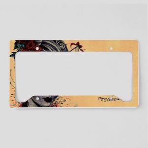 Crimson Lady Long License Plate Holder