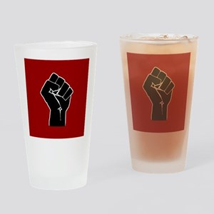 Red Solidarity Salute Drinking Glass