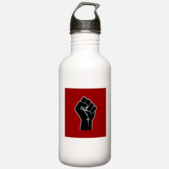 Red Solidarity Salute Water Bottle