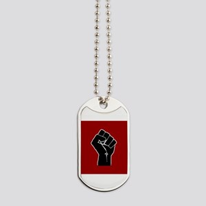 Red Solidarity Salute Dog Tags
