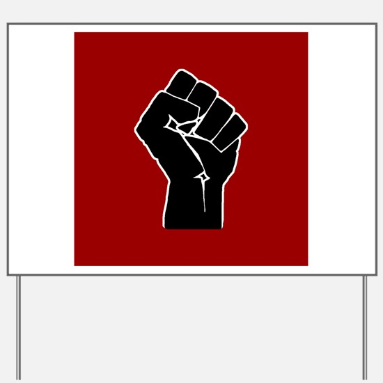 Red Solidarity Salute Yard Sign