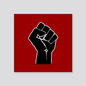 Red Solidarity Salute Sticker