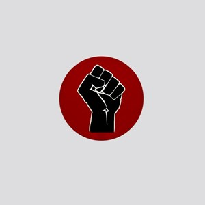 Red Solidarity Salute Mini Button