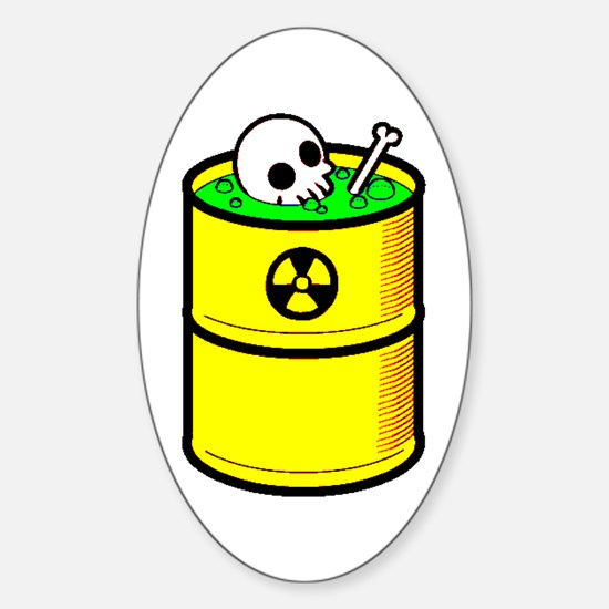 Toxic Wasted - Oval Decal