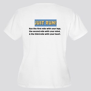 Run with your heart Women's Plus Size V-Neck T-Shi