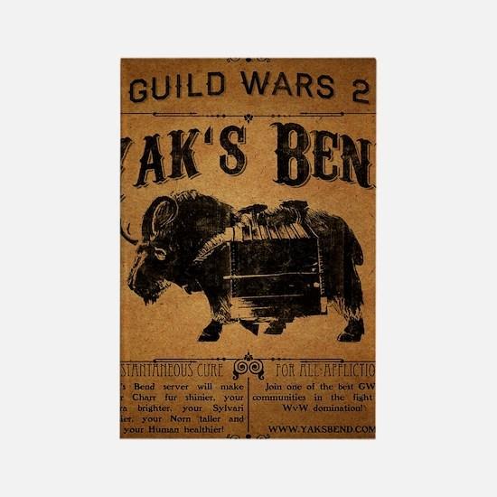Yaks Bend Logo Rectangle Magnet