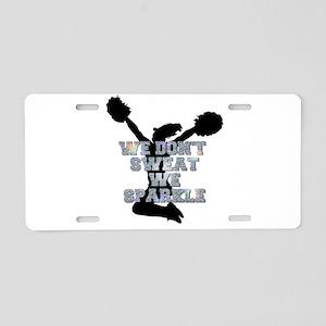 Cheerleader we sparkle Aluminum License Plate