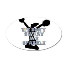 Cheerleader we sparkle Wall Decal