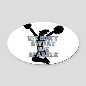 Cheerleader we sparkle Oval Car Magnet