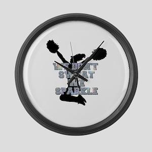 Cheerleader we sparkle Large Wall Clock
