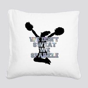 Cheerleader we sparkle Square Canvas Pillow