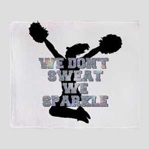 Cheerleader we sparkle Throw Blanket