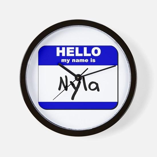 hello my name is nyla  Wall Clock