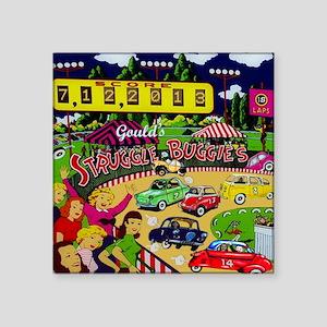 """Goulds 2013 Microcar Classi Square Sticker 3"""" x 3"""""""