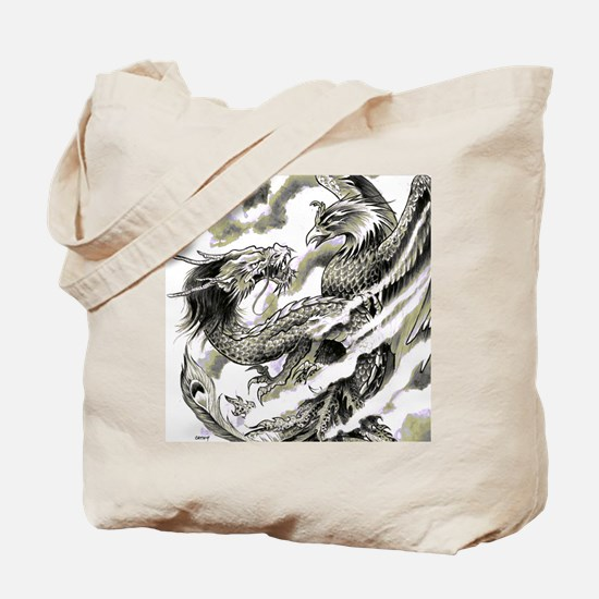 Dragon  Phoenix Tattoo Flip Flops Tote Bag