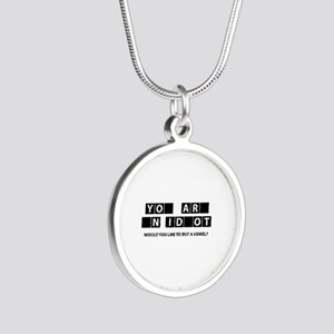 Would You Like To Buy A Vowel? Silver Round Neckla