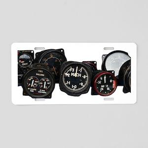 Vintahe flight Mach speed dial Aluminum License Pl