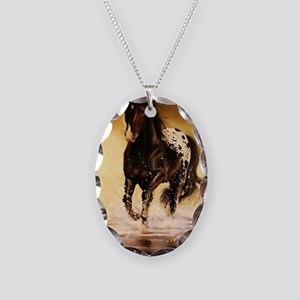 Running free Necklace Oval Charm