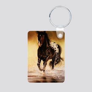 Running free Aluminum Photo Keychain