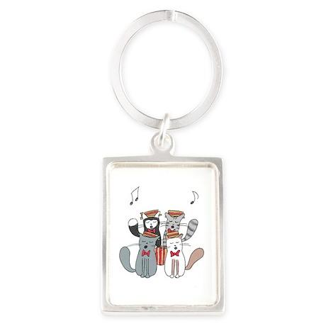 Cat choir Keychains