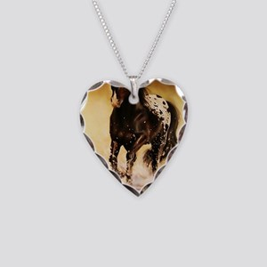 Running free Necklace Heart Charm