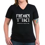 MobileTikiBar- Women's V-Neck Dark T-Shirt