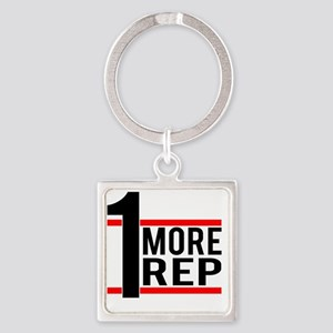 1 More Rep Square Keychain