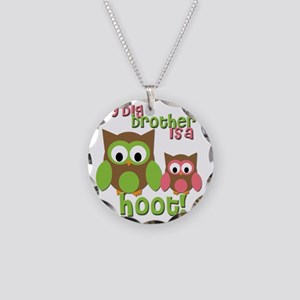 My Big Brother Is A Hoot Necklace Circle Charm
