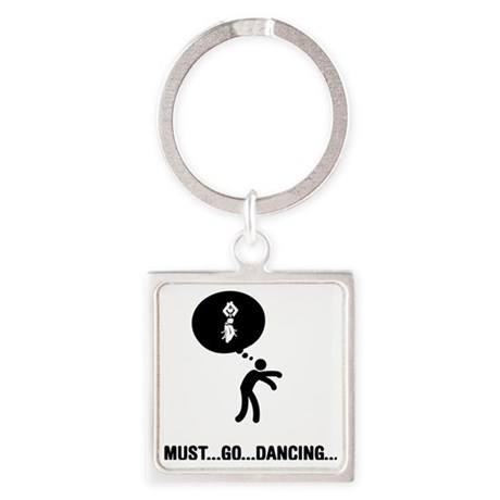Belly-Dancer-A Square Keychain